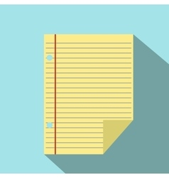 Lined paper of notebook icon vector