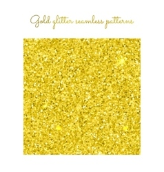 Golden glitter seamless pattern vector