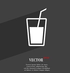 Soft drink symbol flat modern web design with long vector