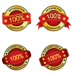 Satisfaction guarantee logo for design vector