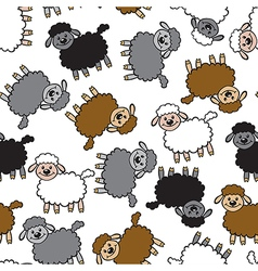 Color lamb pattern vector
