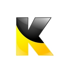 Creative yellow and black symbol letter k for vector
