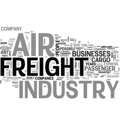 Air freight industry text word cloud concept vector