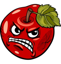 Bad apple saying cartoon vector