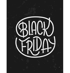Black friday lettering on dark background vector