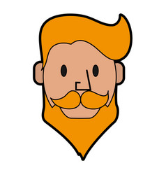 Blonde hipster man character icon image vector