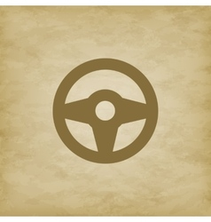 Car wheel on grunge background vector image