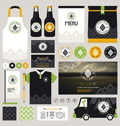 Concept for craft beer restaurant identity vector