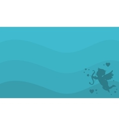 Cupid background for valentine day vector image vector image