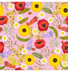 Floral seamless background flowers vector image vector image