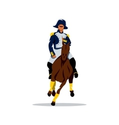 French cavalry Cartoon vector image vector image