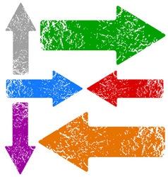 Grunge arrows set vector image