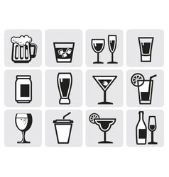 icon beverage vector image