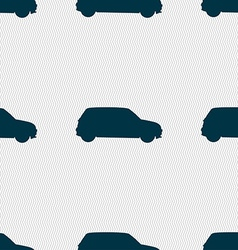 Jeep icon sign Seamless pattern with geometric vector image vector image