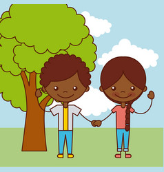kids happy vector image