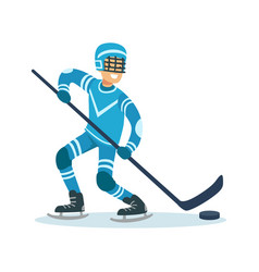 male hockey player character active sport vector image vector image