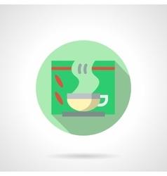 Medical tea flat color design icon vector