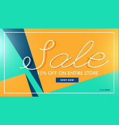 Modern sale banner in minimal style vector