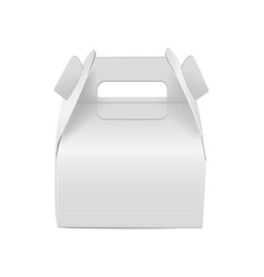 Realistic paper cake package white box mock up vector