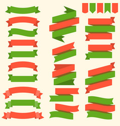 ribbons and flags in christmas theme vector image vector image