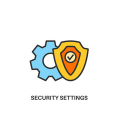 security settings icon vector image