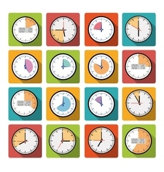 Set clock with the timer vector