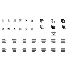 Set of align shapes vector
