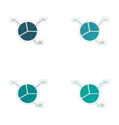 Set of stylish sticker on paper chart with vector