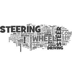 Steer word cloud concept vector