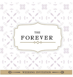 The forever retro white background image vector