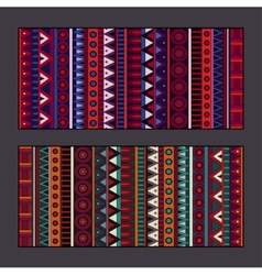 Tribal ethnic background set vector