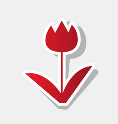 tulip sign new year reddish icon with vector image