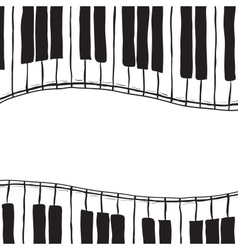 Two piano keys - sketch style vector image vector image