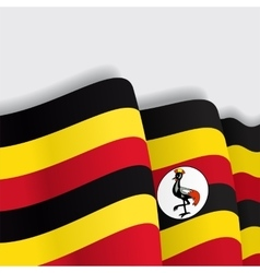Ugandan waving flag vector
