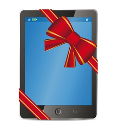 Tablet pc gift vector