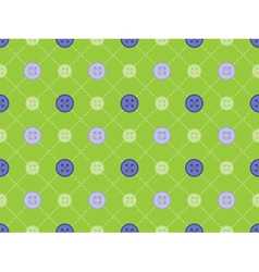 Pattern with stitches and buttons vector