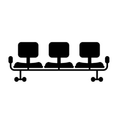 Isolated waiting chairs design vector