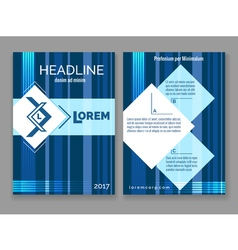 Technology digital brochure template abstract blue vector