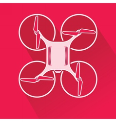 Quadcopter drone from top vector image