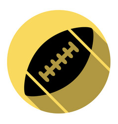 American simple football ball  flat black vector