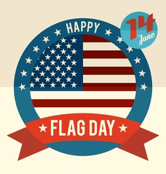 Flag day of united states flat design card vector