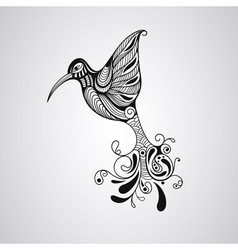 Hummingbird tattoo style vector