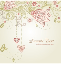 Greeting card for wedding or valentine day vector