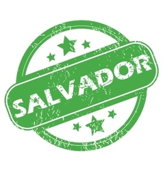 Salvador green stamp vector