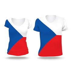 Flag shirt design of czech republic vector