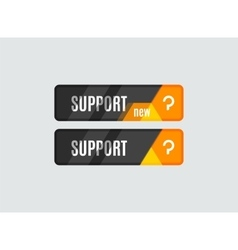 Support button futuristic hi-tech ui design vector