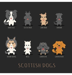 Set of scottish dogs  eps10 format vector