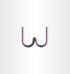 Twisted logotype letter w symbol vector