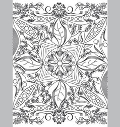 Coloring book page for grownups vector