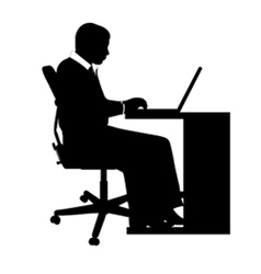 Businessman at desk vector
